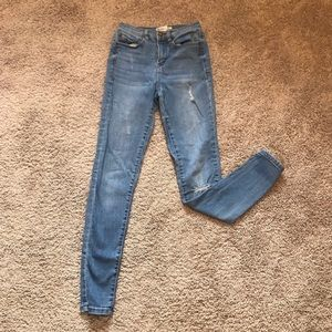 ❤️Mudd Blue Distressed High Rise Skinny Jeans